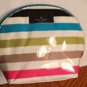 NWOT Kate Spade Cosmetic Bag Colorful Stripes